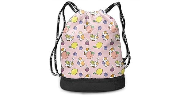Drawstring Backpack Cute Guinea Pig Shoulder Bags