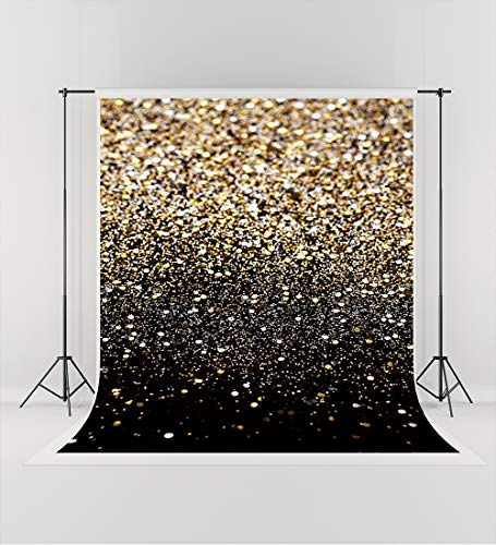 5ft(W) x7ft(H) (150x220cm) Graduation Party Photography Backdrops Prom Party Gold Glitter Seamless Photo Backgrounds -