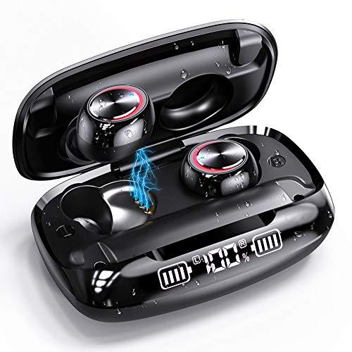 Wireless Earbuds, GUSGU Bluetooth 5.0 in Ear Headphones with Wireless Charging Case Digital Intelligence LED Display…