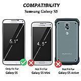 Galaxy S5 Case, LANOU Leather Case Samsung Galaxy