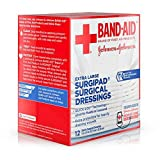 Johnson and Johnson First Aid 5 in. x 9 in. Surgipad Surgical Dressings 12 ct Box - 24 per case.