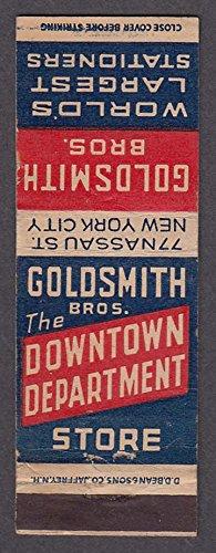 Goldsmith Bros Downtown Department Store 77 Nassau St New York City - Stores Downtown La