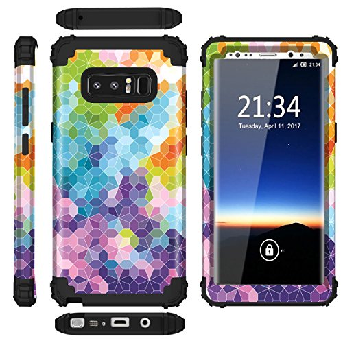 Samsung Galaxy Note 8 case,PIXIU Heavy Duty Protection Shock-Absorption&Anti-Scratch Hybrid Dual-Layer phone cases for Samsung Galaxy Note 8 2017 Realeased (multicolour) Photo #3