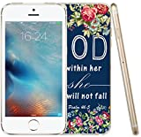 6S Case Quotes, Apple Iphone 6 Case Christian TPU Sofit Side Bible Verses Theme Design God Is within Her She Will not Fall Psalm 46:5