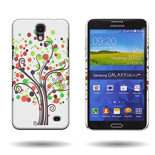 Galaxy Mega 2 Case, by CoverON [Slender Fit] Series Protective Design Hard Snap-On Cover for Samsung Galaxy Mega 2 - Contempo Tree ()