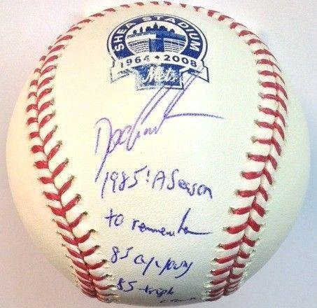 (Dwight Gooden Autographed Baseball - Shea Stadium 1985 STAT COA - PSA/DNA Certified - Autographed Baseballs)