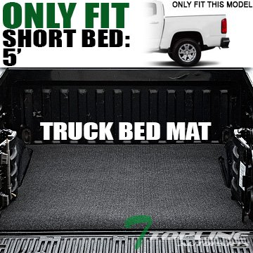 Topline Autopart Black Polyester Truck Bed Floor Mat For 15-18 Chevy Colorado ; GMC Canyon 5 Feet (60') Short Bed Topline_autopart