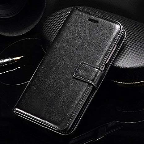 buy online ecd77 ce26c Thinkzy Artificial Leather Flip Cover for Motorola G4 Play (Black)