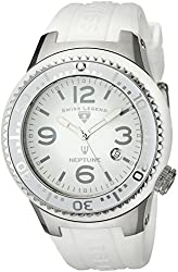 Swiss Legend Men's 21848P-02-WB Neptune White Dial White Silicone Watch