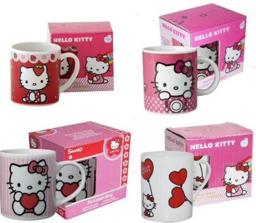 1 Becher Hello Kitty, Keramik, sortierte Motive