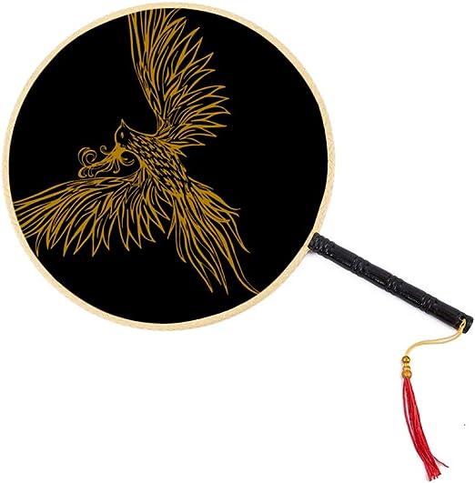 Fénix asiático Pájaro de fuego Ventilador antiguo chino Ventilador de paleta de palacio clásico Ventilador de baile Ventiladores de mano para mujeres Ventilador de niños chinos grandes Ventilador de: Amazon.es: Hogar
