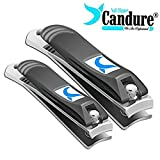Nail Clippers - Nail Cutter for Fingers Nails and toenails - Nail Clipping Tool with Safety Pouch.