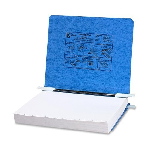 Wholesale CASE of 20 - ACCO 11''x 8-1/2'' Presstex Data Binders w/Stg Hooks-Data Processing Binder, 6'' Cap, 11''x8-1/2'', Light Blue