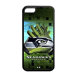 Customize Seattle Seahawks NFL Back Case For Samsung Galaxy S5 I9500 Cover JN5C-1365