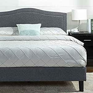 Avignon Upholstered Detail Stitched Scalloped Platform Bed