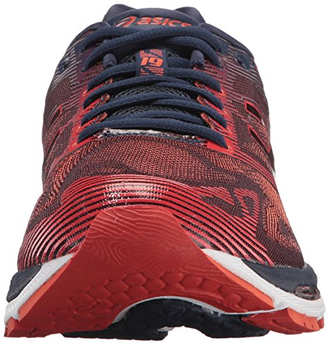 ASICS Men's Gel-Nimbus 19 Running Shoe, Peacoat/Red Clay/Peacoat, 8 Medium US by ASICS (Image #4)