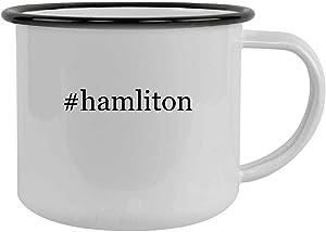 #hamliton - 12oz Hashtag Camping Mug Stainless Steel, Black
