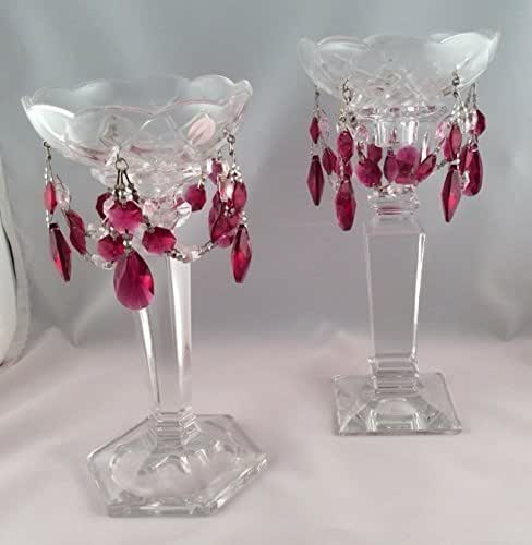 Home Decor Unique Jewelry Hand Crafted Gifts Candles In: Amazon.com: Swarovski Ruby Red Crystal Bobeche Candle