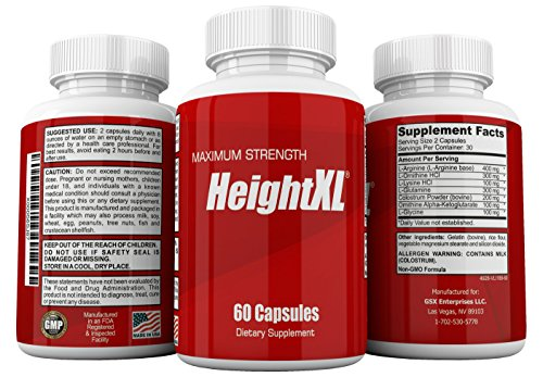 HeightXL Advanced Height Supplement for Growing Taller - 60 Capsules