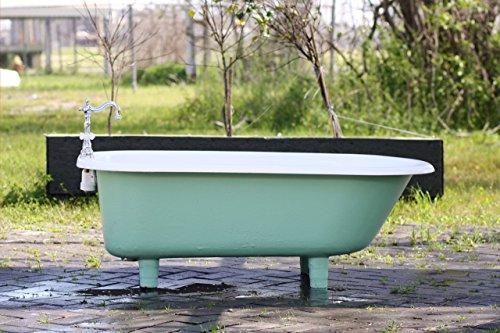 4.5′ Refinished Arsenic Green Clawfoot Bathtub 1941 Richmond Cast Iron Porcelain Cast Iron ...