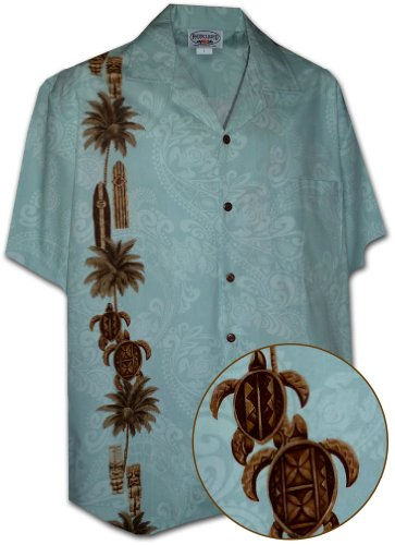 Pacific Legend Hawaiian Tiki Mens Aloha Shirt