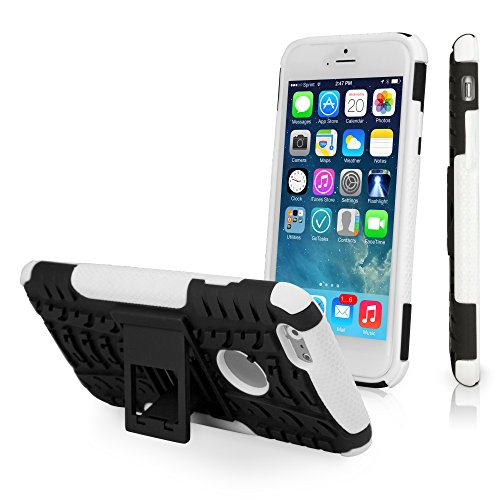 (BoxWave iPhone 6s Case, [Resolute OA3 Case] Tough, Rugged Armor Case with Triple Layer Protection for iPhone 6 / 6s (Valiant White))