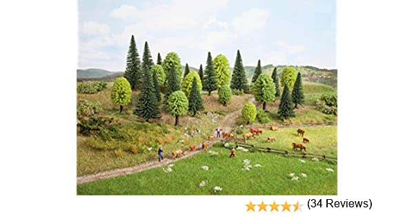 Noch 26911 - Juego de 10 árboles mixtos para bosque (5 - 14 cm) , color/modelo surtido: Amazon.es: Juguetes y juegos