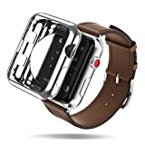 Apple Watch Case, DUX DUCIS Ultra Slim Lightweight Protective Bumper iWatch Cover for All Versions 38mm Apple Watch Series 3 / Series 2 Sport & Edition ( One Free TPU Case As Extra Gift ) - Silver