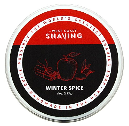 West Coast Shaving, Shaving Soap, Winter Spice. Rich Lather, Smoothe Comfortable Shave. For Men and ()
