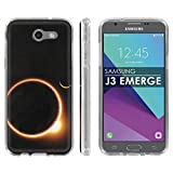 Samsung Galaxy J3 Emerge [2017] Soft Mold [Mobiflare] [Clear] Thin Gel Protect Cover - [Solar Eclipse] for Galaxy [2017] [J3 Emerge] [5'' Screen]