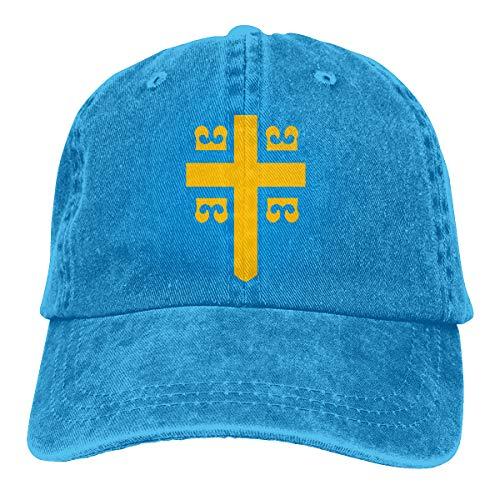 Men Women Vintage Cotton Denim Baseball Cap Byzantine Imperial Flag Golf Hats Blue ()