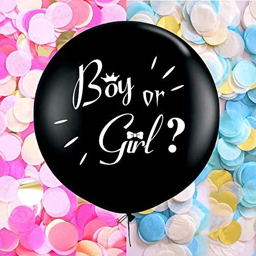 BALONAR 3PCS 36inch Gender Reveal Boy or Girl Big Balloons for Baby Shower Mum to Be Gender Reveal Party CelebrationsSuprise Decoration ()