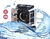Cheap i-TecoSky 1080P Full HD Action Camera Sport Camera Sports Cam SJ4000 30M Waterproof Outdoor Mini Helmet Action Camera Diving Recorder Sports Action Camera Cam Camcorder DVR DV (gold)