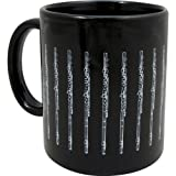 Mug with Flute - Black and Silver