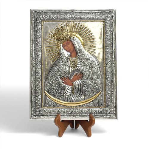 (Silver Plated Icon - Sharp Gate Madonna #1 (12x9))