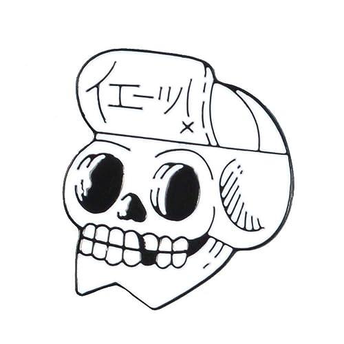 SuoLang Aleación Moda Personalidad Creativa Horror Cráneo ...