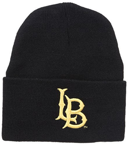 (W Republic NCAA Long Beach State 49Ers The Trainer Beanies, One Size, Black)