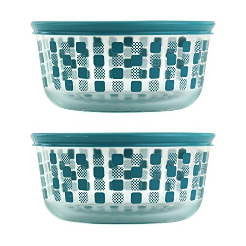 Pyrex 1124730 4 cup Storage Dish Squared Bon, Pack of 2