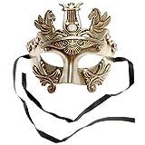 Pegasus Horses Roman Greek Emperor Venetian Masquerade Mask - Silver