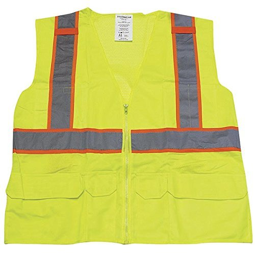 (Ironwear 1277FR-L-03-LG ANSI Class 2 Flame Retardant Polyester Mesh SAFETY Vest with 2