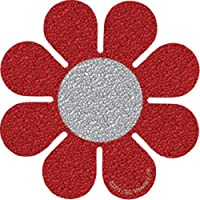 Licenses Products S-2451-G Red Daisy Glitter Sticker