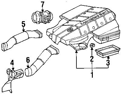 Amazon Com Mercedes Benz 004 094 16 04 Air Filter Automotive