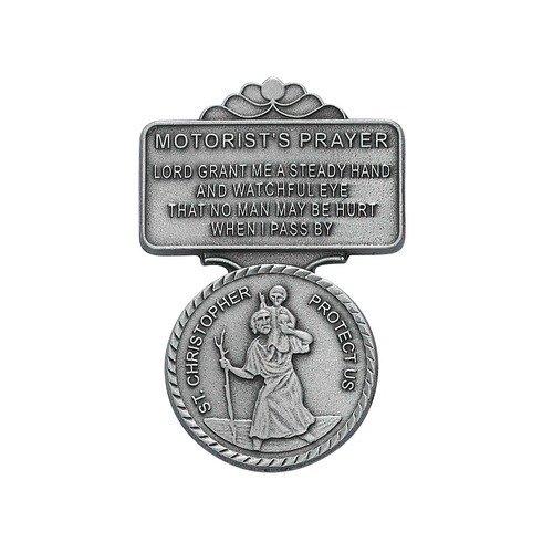 St Christopher Medal Pendant Visor Clip Visor Clips