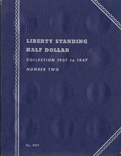 1937-1947 LIBERTY WALKING HALF DOLLARS NUMBER TWO USED WHITMAN No 9027 COIN; Album, Binder, Board, Book, Card, Collection, Folder, Holder, Page, Portfolio, Publication, Set, Volume