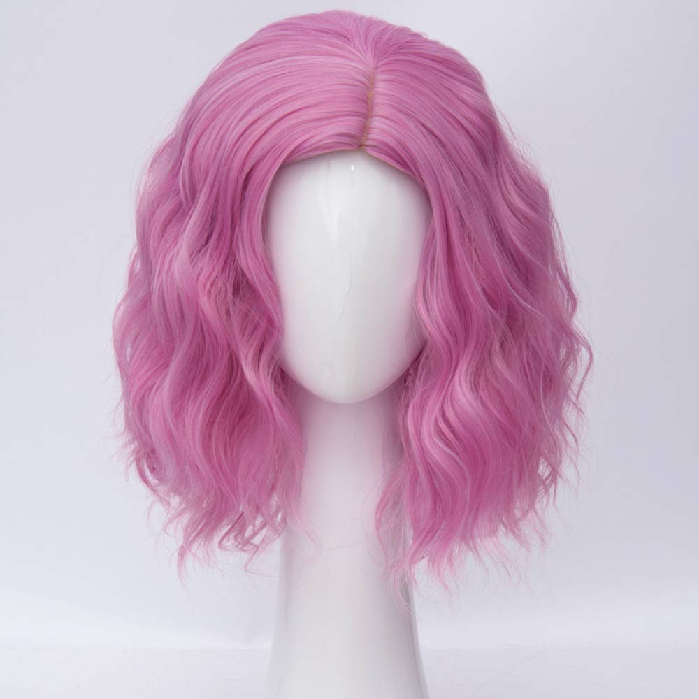 AZHENGGQIAN 35cm Synthetic Party Role Playing Wig + Wig Cap Heat Resistant