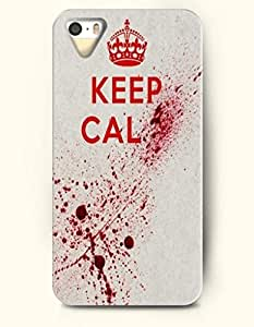 Keep Calm - Red Crown - iPhone 5 / 5s Hard Back Plastic White