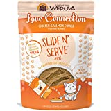 Weruva Slide N' Serve Paté Wet Cat Food, Love Connection Chicken & Salmon Dinner, 2.8oz Pouch (Pack of 12)
