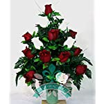 XL-Red-And-White-Roses-Cemetery-Flowers-for-a-3-Inch-Vase