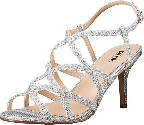 Pink Paradox London Women's Rich Sandal,Silver Glitter/Me...