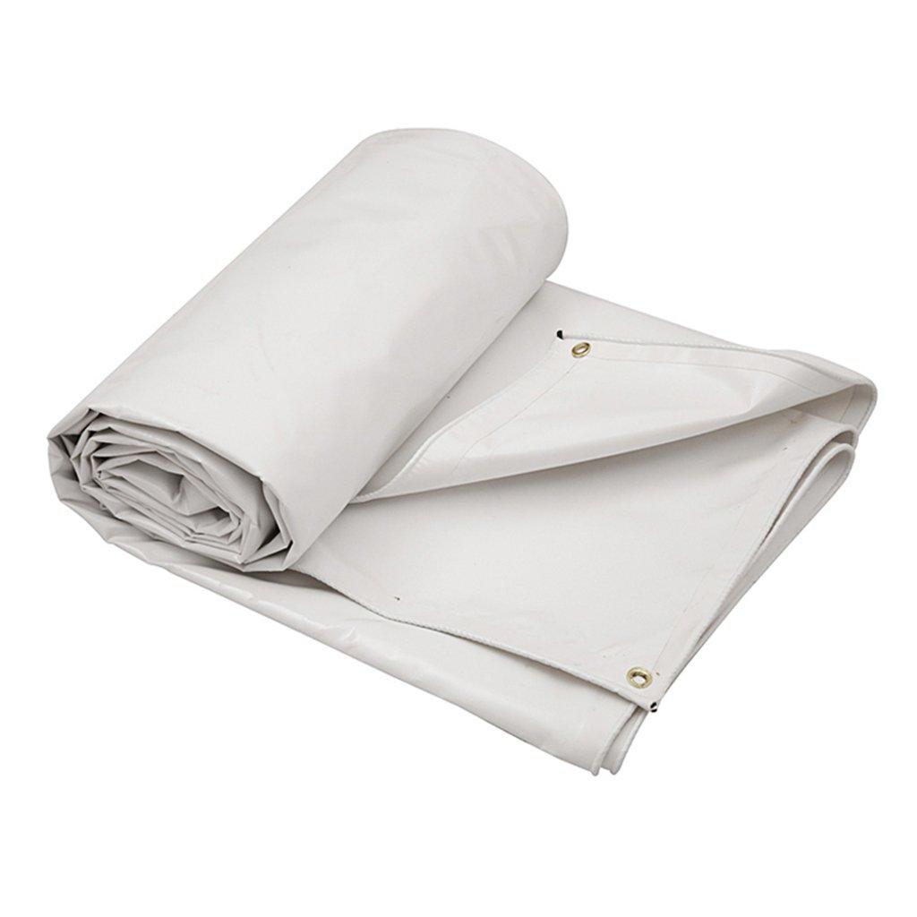 タープ テント ターポリンターポリンアウトドアサンスクリーン厚い布ターポリンスクラッチサンスクリーントラックセダンキャンバスターポリンターポリン (Color : 白, Size : 7*5M) 7*5M 白 B07KS94MV7